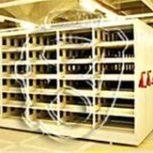 قفسه های ثابت و متحرک فلزی برای کتابخانه