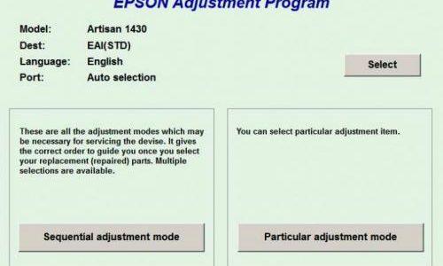 نرم افزار ریست دائمی Canon ، Epson