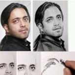 سفارش طراحی چهره نقاشی چهره سیاه قلم و رنگی